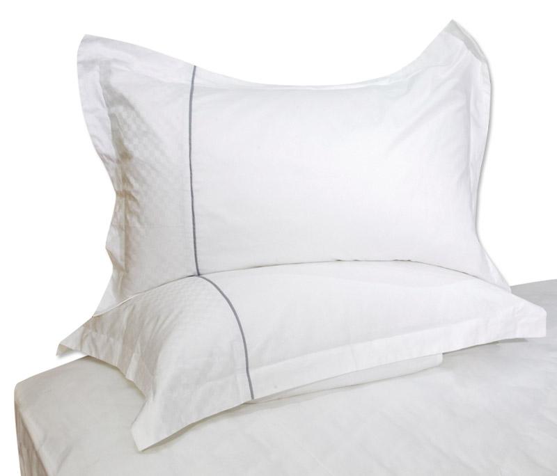 分方格拼布欧式枕套
