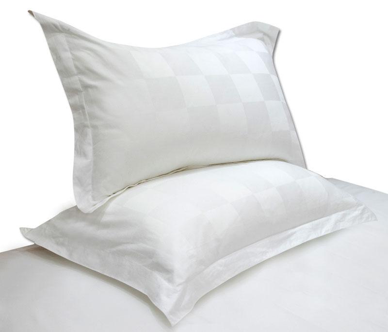 精梳棉九方格欧式枕头套